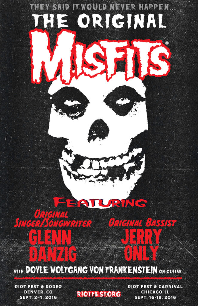 Misfits Riot Fest Poster